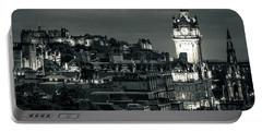Edinburgh In Black And White Portable Battery Charger