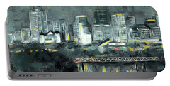 Edmonton Cityscape Painting Portable Battery Charger
