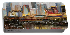 Edmonton Skyline Abstract1 Portable Battery Charger