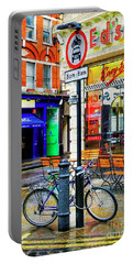 Portable Battery Charger featuring the photograph Ed's Easy Diner Bicycle by Craig J Satterlee
