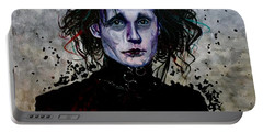 Portable Battery Charger featuring the painting Edward by Joel Tesch