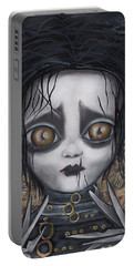 Edward Scissorhands Portable Battery Charger by Abril Andrade Griffith