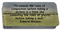 Edward Weston Quote Portable Battery Charger