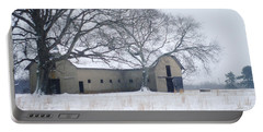 Edwardian Barn In The Snow Portable Battery Charger