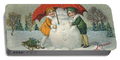Edwardian Christmas Card Portable Battery Charger