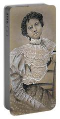 Edwardian Ebony Elegance -- Portrait Of Edwardian African-american Woman Portable Battery Charger