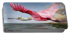Edwin's Roseate Spoonbill Portable Battery Charger