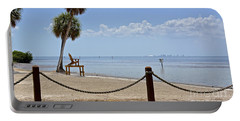 Portable Battery Charger featuring the photograph E G Simmons Park Beach by Carol  Bradley
