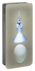 Portable Battery Charger featuring the photograph Egg Drop Lamp by Gary Slawsky