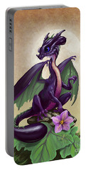 Eggplant Dragon Portable Battery Charger