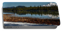 Portable Battery Charger featuring the photograph Egret At Lava Lake by Cat Connor