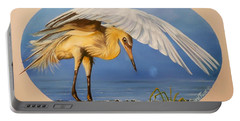 Chloe The  Flying Lamb Productions                  Egret Fishing Portable Battery Charger