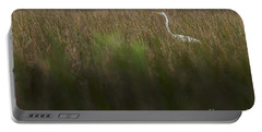 Egret In Swamp-1-0711 Portable Battery Charger