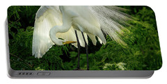 Egret Preening Portable Battery Charger