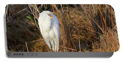 Egret With Something To Say Portable Battery Charger