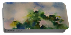 Egrets Impressionistic Watercolor Gift Portable Battery Charger