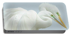 Egrets In Love 2 Portable Battery Charger