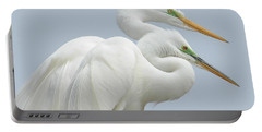 Egrets In Love Portable Battery Charger