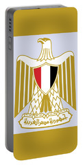 Portable Battery Charger featuring the drawing Egypt Coat Of Arms by Movie Poster Prints