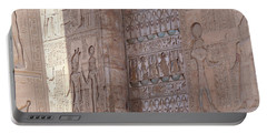 Portable Battery Charger featuring the photograph Egyptian Hieroglyphs by Silvia Bruno