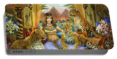 Egyptian Queen With Leopard Portable Battery Charger