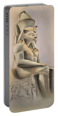Portable Battery Charger featuring the pastel Egyptian Study II by Elizabeth Lock