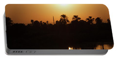 Portable Battery Charger featuring the photograph Egyptian Sunset by Silvia Bruno