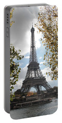 Portable Battery Charger featuring the photograph Eiffel From Avenue De New York by Christopher Kirby