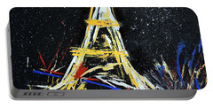 Portable Battery Charger featuring the painting Eiffel by Gary Smith