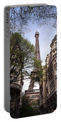 Portable Battery Charger featuring the photograph Eiffel Tower 2b by Andrew Fare