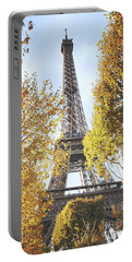 Portable Battery Charger featuring the photograph Eiffel Tower Amidst The Autumn Foliage by Ivy Ho
