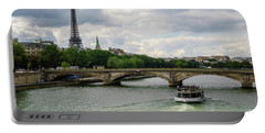 Eiffel Tower And The River Seine Portable Battery Charger