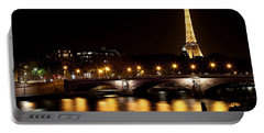 Portable Battery Charger featuring the photograph Eiffel Tower At Night 1 by Andrew Fare
