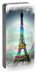 Eiffel Tower Bubble Portable Battery Charger by Lilliana Mendez