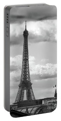Eiffel Tower From Galeries Lafayette Rooftop Portable Battery Charger