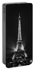 Eiffel Tower Noir Portable Battery Charger by Melanie Alexandra Price