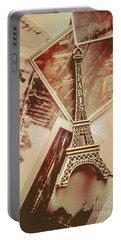 Eiffel Tower Old Romantic Stories In Ancient Paris Portable Battery Charger