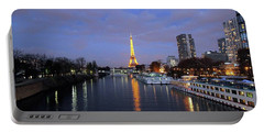 Eiffel Tower Over The Seine Portable Battery Charger