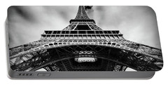 Portable Battery Charger featuring the photograph Eiffelt Tower From Below - Paris by Barry O Carroll