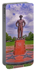 Eisenhower Museum Courtyard Memorial 001 Portable Battery Charger by George Bostian
