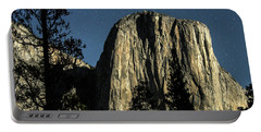 El Capitan By Starlight, Yosemite Valley, Yosemite Np, Ca Portable Battery Charger