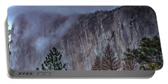 El Capitan Horsetail Falls Stormy Sunset Portable Battery Charger