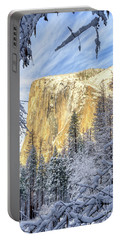 El Capitan Winter Majesty Yosemite National Park Portable Battery Charger
