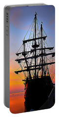 El Galeon At Sunrise Portable Battery Charger