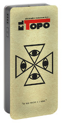 Portable Battery Charger featuring the digital art El Topo by Ayse Deniz