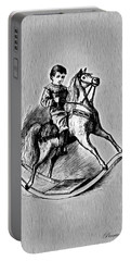 Portable Battery Charger featuring the digital art Elaborate Rocking Horse by Pennie McCracken