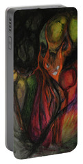 Portable Battery Charger featuring the painting Elder Keepers by Christophe Ennis