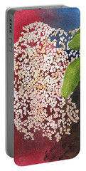 Elderberry Blossom In Watercolor Portable Battery Charger