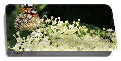 Elderflower And Butterfly Portable Battery Charger