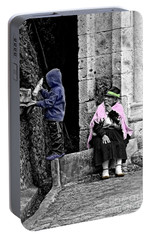 Portable Battery Charger featuring the photograph Elderly Beggar In Biblian II by Al Bourassa